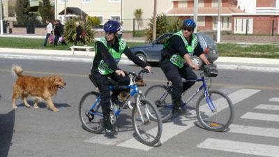 Policia en Bicicleta