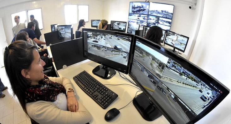 Entró en funcionamiento el sistema de cámaras de vigilancia en Madryn