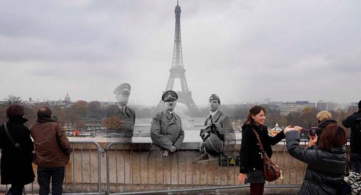 Mezclan la Segunda Guerra Mundial con el presente